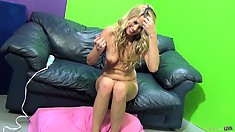 Channel Rae gets pounded on her side and gets a load on her belly